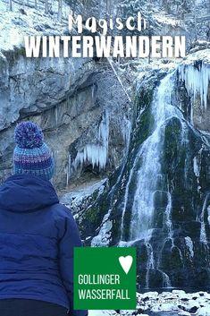 Besonders magische #Winterwanderung im Schnee nahe #Salzburg ✔️ #Gollinger #Wasserfall #Winter und danach noch ins #Bluntautal zu den #Bluntauseen ✔️ #kinder #Tipps #österreich #natur #golling #winter #wandern Salzburg, Movies, Movie Posters, Photos, Snow, Hiking, Nature, Tips, Film Poster