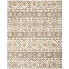 Safavieh Wyndham Collection WYD720A Handmade Natural and Multi Wool Area Rug 8 feet by 10 feet 8 x 10 * To view further for this item, visit the image link. (This is an Amazon Affiliate link and I receive a commission for the sales)