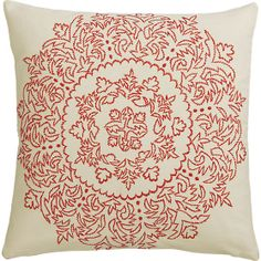 """henna embroidered 18"""" pillow in pillows 