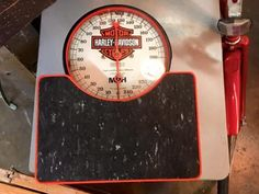 """Harley Davidson Scale On Sale   13"""" High x 10.5"""" Wide x 8"""" Deep   Was $295 Sale Price $225  Rick's Antiques and Home Decor, Dealer #36  White Elephant Antiques  1026 N. Riverfront Blvd. Dal"""