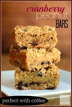 Looking for fall dessert that isn't too sweet? This Cranberry Peanut Bar Recipe is a great mix of sweet, tart, creamy, and salty and is AWESOME with a cup of coffee.