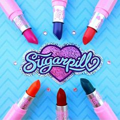 Live your life in cuteness and color! #sugarpill #prettypoison lipsticks photographed by @chassydimitra 💝
