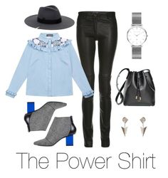 """""""The Power Shirt"""" by wolfandbadger ❤ liked on Polyvore featuring ElleSD, TRAMP IN DISGUISE, Kim Kwang, Maria Stuart, Abbott Lyon, RUSKIN and Wild Hearts"""
