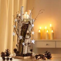 Kleine Birkenstämme und Birkenrinde sind ausgesprochen gut für schöne Winterdekorationen geeignet……..7 großartige Ideen! - DIY Bastelideen