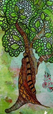 zentangled tree by Love Light and Peace: In My Back Yard