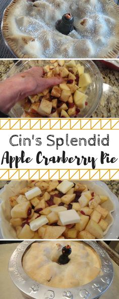 This apple pie recipe has so much flavor! I love the mix of apples and cranberry. The strawberry nectar and the extracts make this really delicious. Top with some ice cream and everyone will gobble this up.
