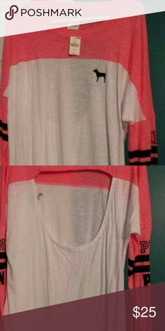 VICTORIA SECRET OPEN BACK LONG SLEEVE Retail, 32.95 Victoria secret Tops Tees - Long Sleeve