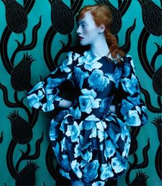 """Floral Fantasy"" Chantal Stafford Abbott Shot by Leda & St. Jacques Elle Canada September 2011 #editorial"