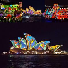 Check out the amazing lighting displays at the Vivid Sydney 2016