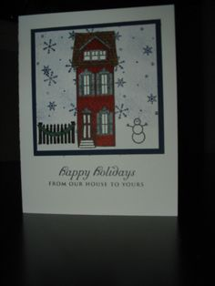 Home for the holidays card Stamps: Boards & Beams, home for the Holidays and Holiday Wishes (all Papertrey Ink)