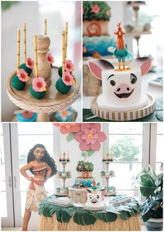 59 Ideas birthday party dcoration pastel for 2019 2 Year Old Birthday Party Girl, Moana Birthday Party Theme, Moana Themed Party, Moana Party, Luau Birthday, Luau Party, 3rd Birthday Parties, Birthday Ideas, Moana Birthday Cakes