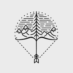 This ones available, desperately need some text or something to fill the empty bits in the bottom. #graphicdesign #design #illustration #art #artwork #drawing #handdrawn #outdoors #travel #adventure #explore #nature #mountains #bow #arrow #slowroastedco #liamashurstavailable