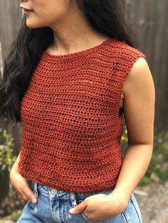 Crochet Top Outfit, Bag Crochet, Crochet Shirt, Crochet Clothes, Diy Crochet Top, Free Crochet, Crochet Vests, Crochet Cape, Crochet Tank Tops