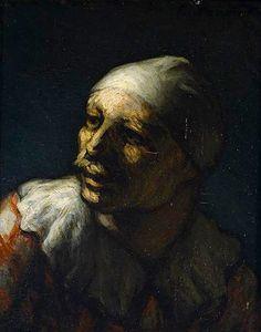 'Head of Pasquin', Honoré Daumier, 1862-1863