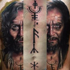 """I recreated Sirius Black's Azkaban prison tattoos on @zac_matassoni and a throwback to the Sirius Black portrait I did on @joeyjay.music back in April.…"""