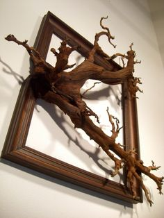 Fusion Frames NW, making distinct Fusion Frame tree branch art since A reclaimed tree branch, a re-purposed frame, and my passion — Darryl Cox, Jr. Tree Branch Art, Tree Art, Frames On Wall, Framed Wall Art, Driftwood Wall Art, Wood Art, Wood Projects, Picture Frames, Diy Home Decor