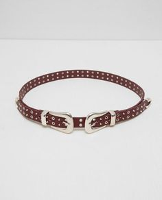 Image 2 of DOUBLE BUCKLED AND STUDDED BELT from Zara