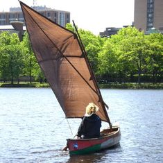 This site describes how to DIY a sail and rigging and turn a canoe into a small sailboat! Great ideas.