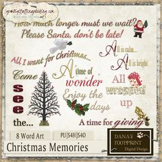 Christmas Memories Wordart