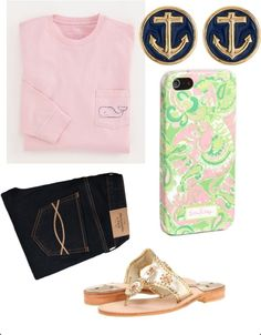 basically what I'll be wearing to school all year Summer School Outfits, Spring Outfits, Preppy Outfits, Cool Outfits, Preppy Clothes, Preppy Casual, Prep Style, My Style, Look Rose