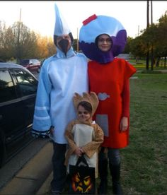 I found our Halloween costumes!!! The Regular Show gang.