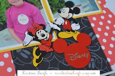 Live Love Laugh Scrap Disney Scrapbook Layout with Cricut