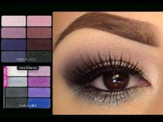Pretty eye makeup using wet and wild eyeshadows