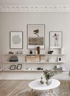 Home deco white shelves Home Living Room, Living Room Decor, Living Spaces, Shelf Ideas For Living Room, Nordic Living Room, Decoration Inspiration, Interior Inspiration, Decor Ideas, Room Ideas