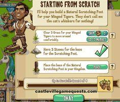 Castleville Rafael Up to Scratch Quest