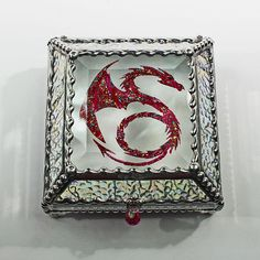 Celtic Dragon Glass Jewelry Box