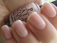 I like these sheer nail polishes from OPI.