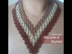 NM Bijoux - Maxi colar de miçangas - 2 needle weave ~ Seed Bead Tutorials