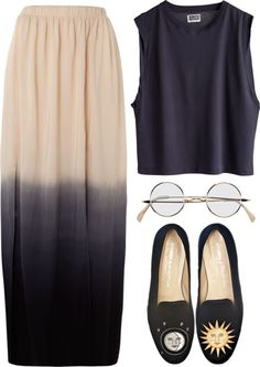 """""""dip dye"""" by rosiee22 ❤ liked on Polyvore"""