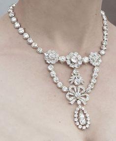 thestandrewknot: Queen Josefina of Sweden's Diamond Stomacher Necklace.