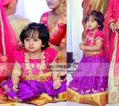 Purple Lehenga Pink Ruffled Blouse - Indian Dresses You are in the right place about Blouse embroidery Here we offer you the most beautiful pictures about the Blouse summer you are looking for. Indian Baby Girl, Kids Indian Wear, Kids Ethnic Wear, Kids Dress Wear, Dresses Kids Girl, Kids Outfits, Kids Wear, Kids Gown, Baby Dresses