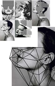 Graphic black and white / geometric inspiration. Remains me the necessary…