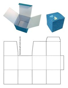 Instructions for Making Gift Boxes - Sulky Tutorial and Ideas Box Templates Printable Free, Cube Template, Paper Box Template, Making Gift Boxes, Custom Printed Boxes, How To Make Box, Diy Box, Box Design, Storage Boxes