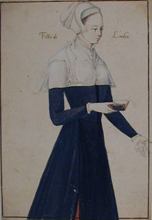 Anonymous (French)   Young Woman, holding a Book, facing right  From the style of clothing, early 1500s