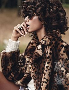 "Anais Mali featured in ""Safari Spirit"" for Vogue Paris November 2013, photographed by Giampaolo Sgura and styling by Capucine Safyurtlu."