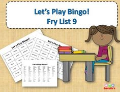 Fry List 9 - Words 801 to 900 40 Bingo Cards with Free Space 25 playing spaces per cards Call list of the 100 words randomized Print on card stock and laminate for multiple uses Print on regular paper for one-time use