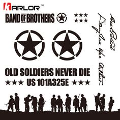 ==> [Free Shipping] Buy Best 1 Set Fashion Band of Brothers Wild US Army Willys Star Vinyl Reflectiv Car Sticker Auto Decal for Jeep Wrangler SUV Car-Styling Online with LOWEST Price | 32676524803