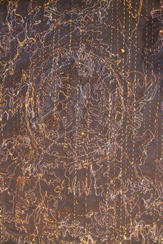 "Wendy Feldberg | ""Forest Floor"" | eco printed + stitched art cloth installation"