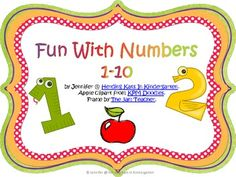 Fun with numbers 1-10 and tens frames