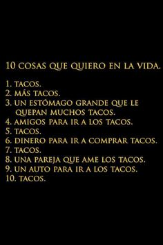 Tacos, tacos everywhere Spanish Humor, Spanish Quotes, Los Tacos, Taco Love, Taco Humor, Mexican Problems, Quotes En Espanol, Mexican Humor, Frases Humor