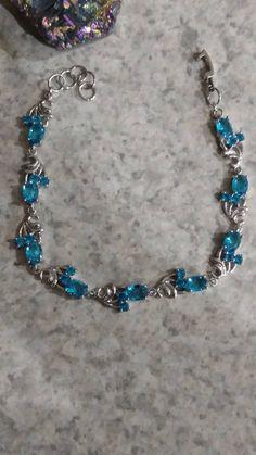Blue Topaz Bracelet by KarinsForgottenTreas on Etsy
