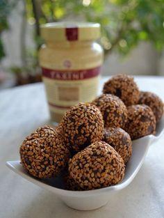 Τρουφακια σοκολατας με ταχινι