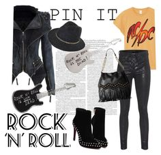 """Rock N Roll is Not Dead"" by clotheshawg ❤ liked on Polyvore featuring MadeWorn, rag & bone, agnès b. and Just Cavalli"