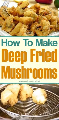 Deep Fried Mushrooms The Effective Pictures We Offer You About Mushroom Recipes. Deep Fried Mushrooms The Effective Pictures We Offer You About Mushroom Recipes simple A quality Beef And Mushroom Recipe, Baby Bella Mushroom Recipes, Fried Mushroom Recipes, Deep Fried Recipes, Mushroom Appetizers, Deep Fried Mushrooms, Breaded Mushrooms, Stuffed Mushrooms, Wild Mushrooms