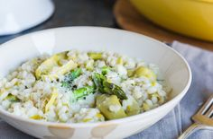 Barley Risotto With Artichokes and Asparagus    Sinful (Tasting!) Whole-Grain Risotto Recipes