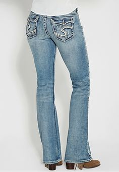 silver jeans co. ® suki faded medium wash bootcut jeans (original price, $99) available at #Maurices